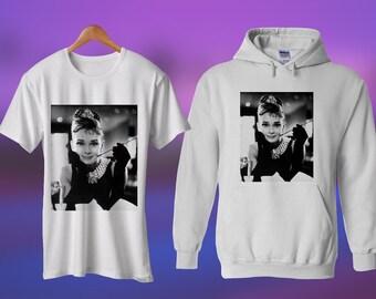 Audrey Hepburn Hoodie Art Tee Tshirt Audrey Hepburn Shirt Audrey Hepburn Lover Gifts For Her Him