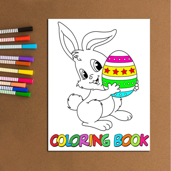 80 PAGES Easter Coloring Pages For Kids Easter Gift For Kid