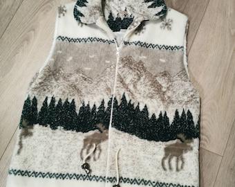 Long sleeves grey shirt with moose embroidery Moose design Boys jacket Handmade Girls jacket Lush polar fleece Kids polar jacket