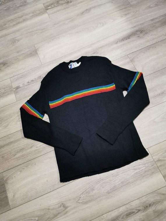 Vintage Rainbow Sweater | Unisex Rainbow Pullover
