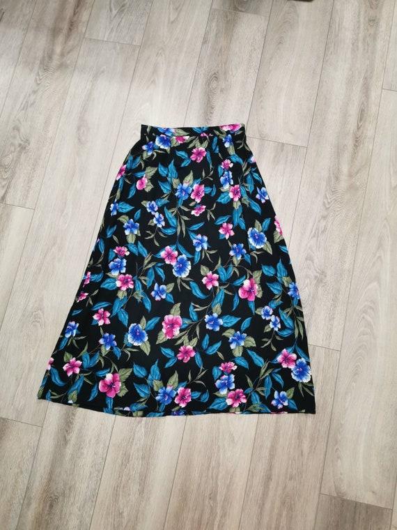 Vintage Jacklin Smith Floral Midi Skirt | Vintage