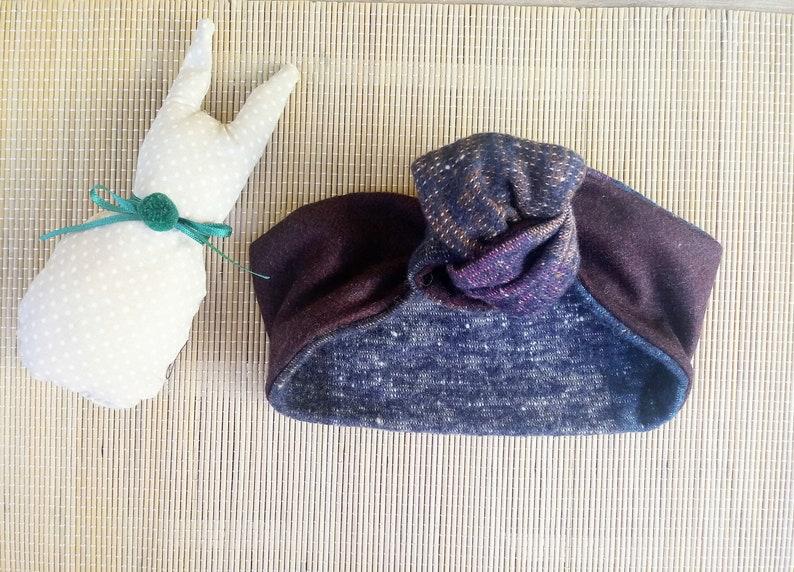 Modelable hair band for girl in wool Violetta