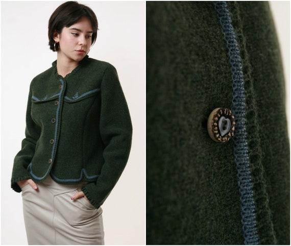 80s Wool Vintage Austrian Buttons Jumper Sweater 2