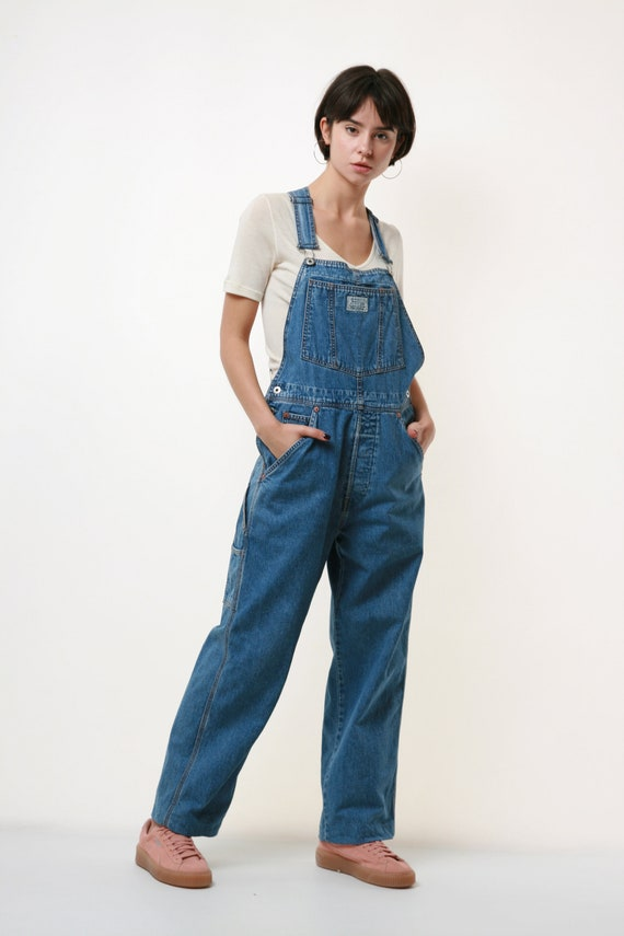 90s Vintage Levi's Denim Workwear Denim Overalls J