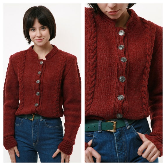 70s Vintage Austrian Traditional Handknitted Made