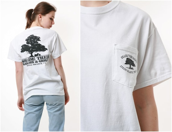 90s GILDAN SHADE TREE Vintage Cotton T-shirt 16759