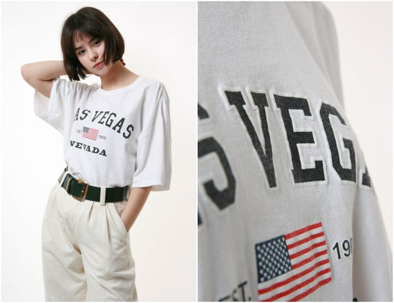 90s GILDAN Las Vegas NEVADA Vintage Cotton T-shirt
