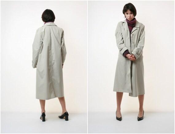 90s Vintage Lightweight Beige Long Coat 2073
