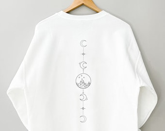 Two sided ACOTAR Feyre's Tattoo SWEATSHIRT, The Night Court, A Court of Thorns and Roses Court of Dreams, Gift for the Rhysand, Fan girl