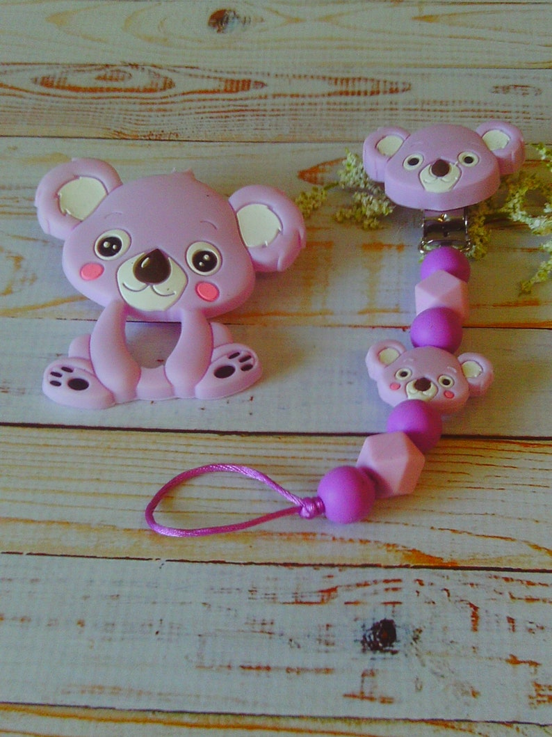 Leaning and Discovery Pink andor Lilac Koala Bear Baby Accessory Great New Mom Gift! Shower Gift!!