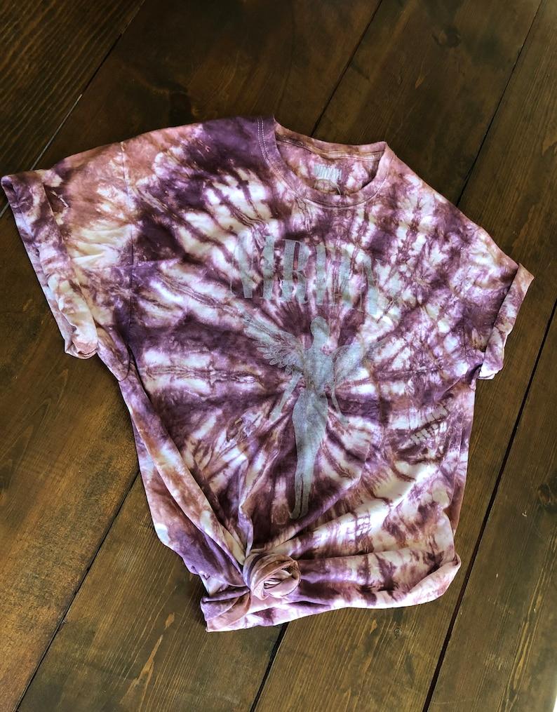 90s Graphic Tee Distressed Nirvana Shirt Oversized Band Tee Nirvana Tie Dye Tee 90s Tie Dye Band Tee Oversized Nirvana Tee