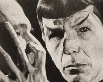 morgan woodward star trek  8.5x11 PHOTOGRAPH  the first person on Star Trek to receive the Vulcan Mind Meld