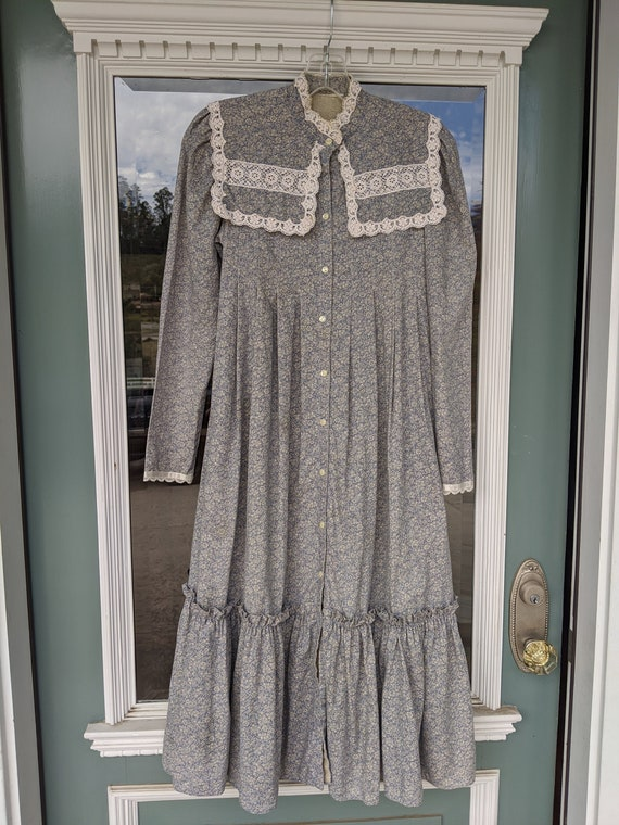 Gunne Sax dress, calico, prairie