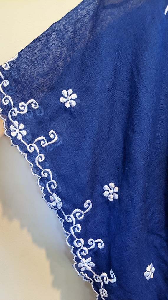 Embroidered butterfly blouse, vintage butterfly b… - image 5