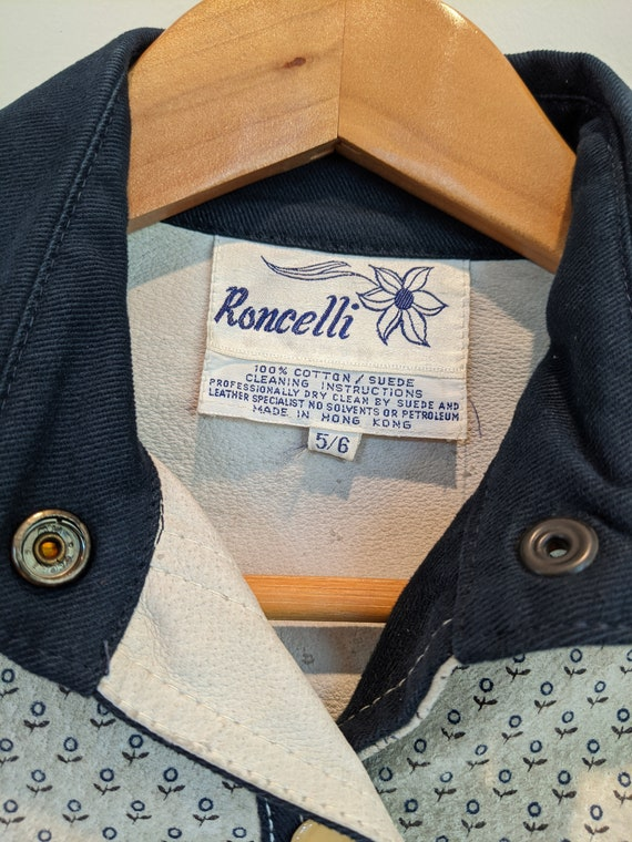 Roncelli jacket, suede & brushed denim jacket, 70s - image 3