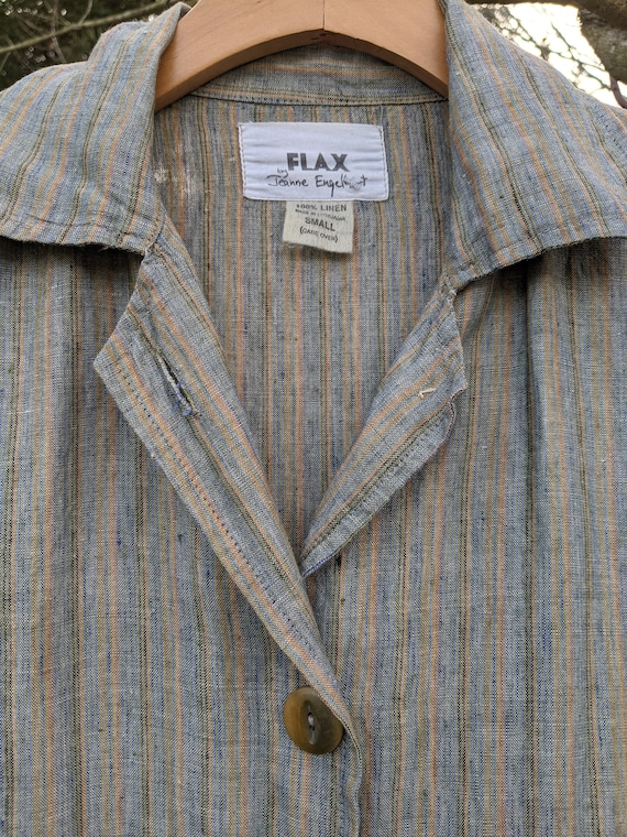Vintage over-sized linen jacket by Jeanne Englehea
