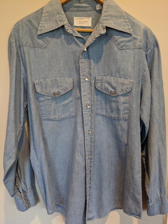 70s Ranchcraft western chambray shirt