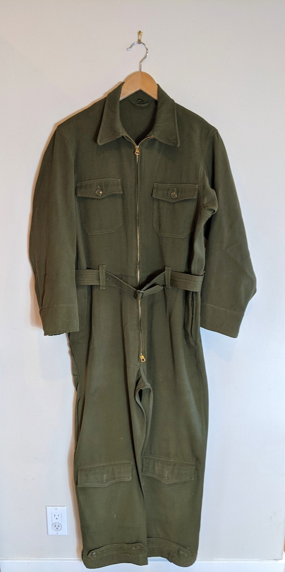 40s WWII gabardine wool flight suit, WWII Flight s
