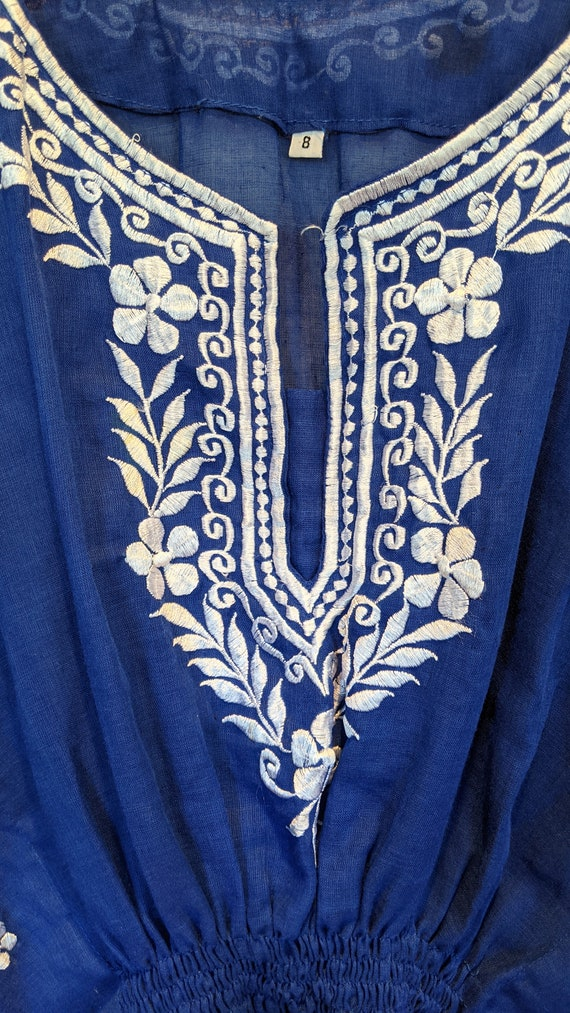 Embroidered butterfly blouse, vintage butterfly b… - image 2