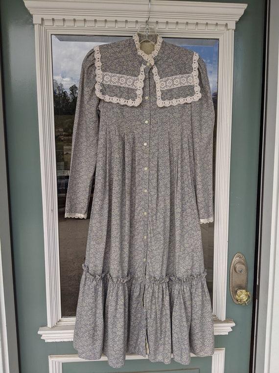 Gunne Sax dress, calico, prairie