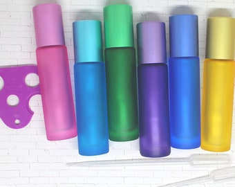 Essential oil roller, Roll on, High-grade Colorful Bottles, Tube Containers, Aromatherapy, Perfumes and Lip Balms