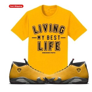 Jordan Retro 14 Alternative Ferrari Gelb Sneaker Shirt Etsy