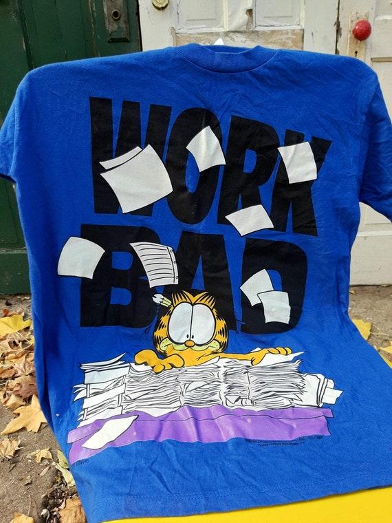 Vintage Garfield T-Shirt - Work Hard