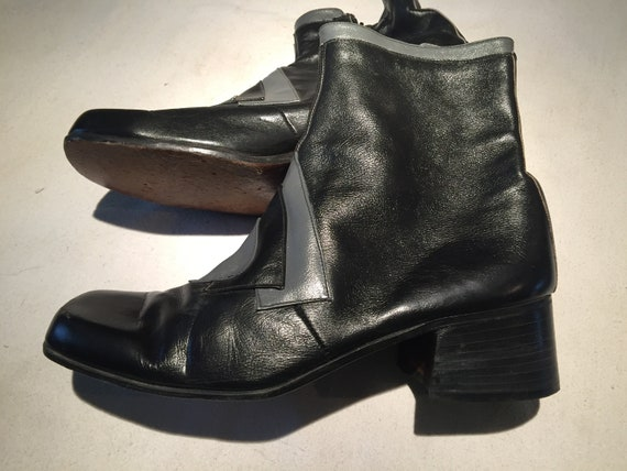 70's mens boots leather