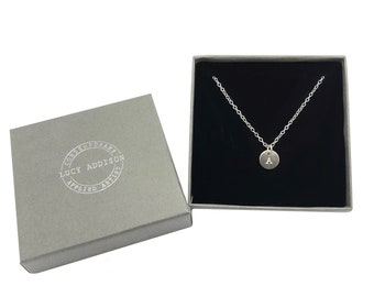 Silver Initial Necklace, Personalised Gift, 18th Birthday Gift, Special Birthday, Gifts For Her