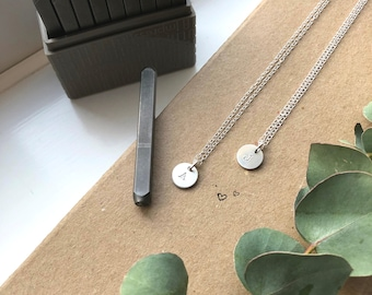 Matching Initial Necklaces, Personalised Jewellery, Sterling Silver, Matching Couples, Best Friends, Matching Mother Daughter Necklaces
