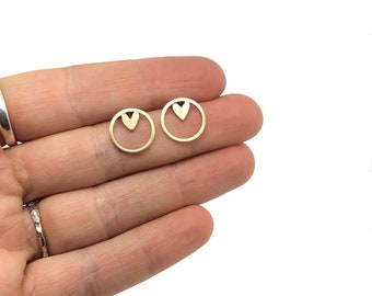Gold Heart Earrings, Valentines Gift, Gold Studs, Gifts For Her, Mothers Day Gifts, Special Birthday Gifts, Stud Earrings, 9ct Gold