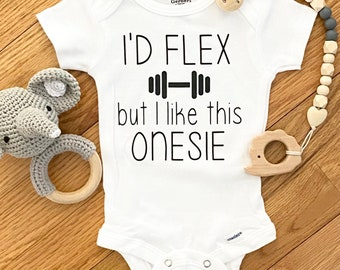 Funny Baby Boy Onesie \u00ae Workout Buddy Partner Working on My Six Pack Cute Baby Gift for Mom Dad Funny Baby Gifts Baby Graphic Tee
