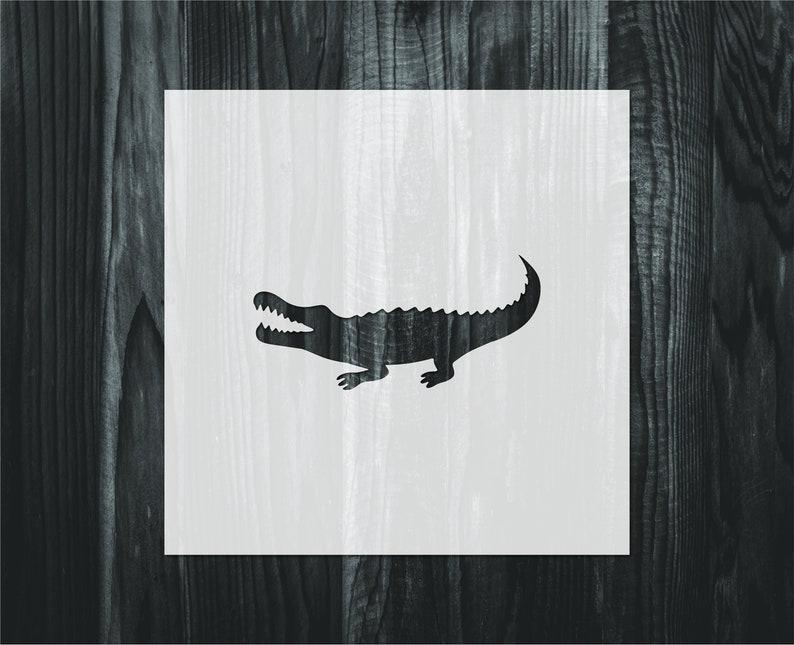 Mylar reusable stencil Alligator stencil Stencil FAST SHIPPING