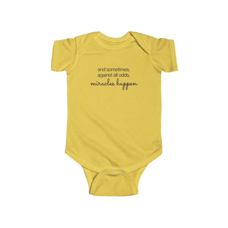 Coming Home Outfit Newborn Sometimes Miracles Happen infertility Onesie\u00ae Baby Shower Gift Rainbow baby New Baby IVF Baby IUI Baby