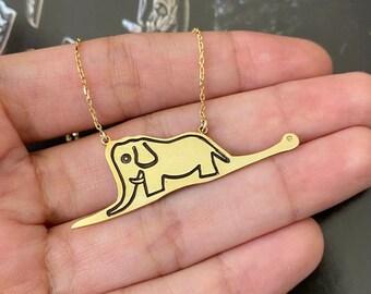 The Little Prince Necklace Silver Pendant Le Petit Prince Elephant Necklace
