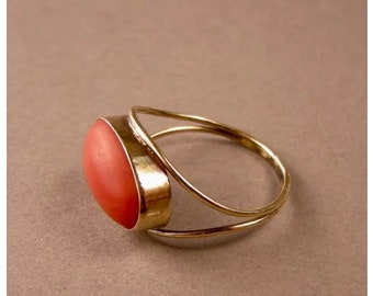 wedding ring valentine gift ring,unisex ring 925 sterling silvergoldrose gold ring Red Coral oval shape engagement promise ring