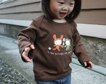 Christian Baby and Toddler Tee -  He filled the hungry with good things.
