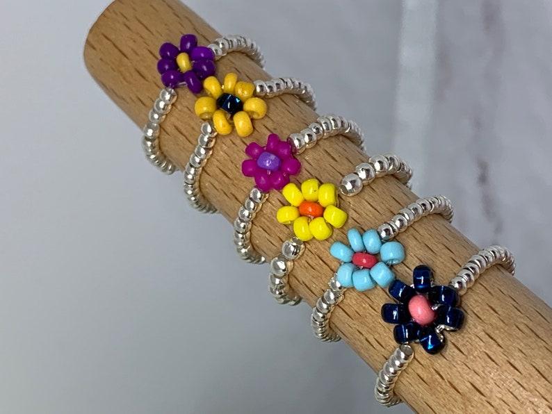 Beaded Flower RingsToe RingsMidi RingsFlip Flop WeatherStretchBeach TimeFlip Flop Fun