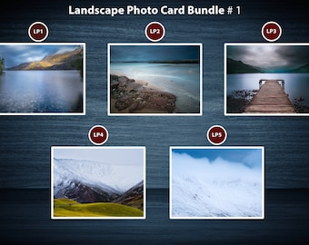 Scottish Landscape Photo Greeting Card Packs | 5 Cards | A5 or A6 Size cards plus brown kraft envelopes | No plastic packaging.