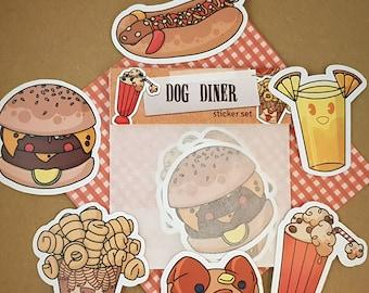 Dog Food sticker set | Dog Diner