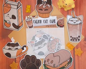 Cat Food sticker set | Calico Cat Café