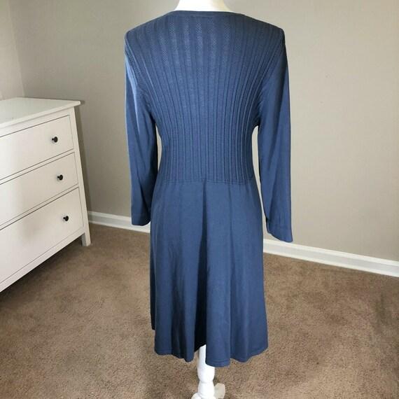 Laura Ashley Lightweight Sweater Dress 12 Vintage… - image 9