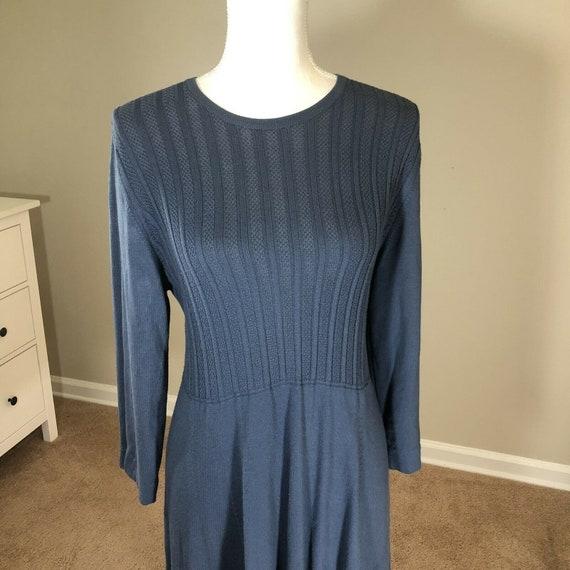 Laura Ashley Lightweight Sweater Dress 12 Vintage… - image 2