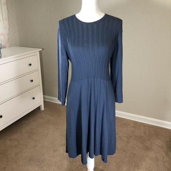 Laura Ashley Lightweight Sweater Dress 12 Vintage… - image 1