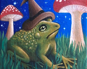 Froggy Witch - Paper print
