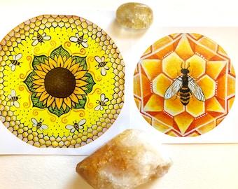 Honey Bee Stickers (2-Pack)