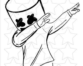 Marshmellow Dabbing SVG, PNG, PDF