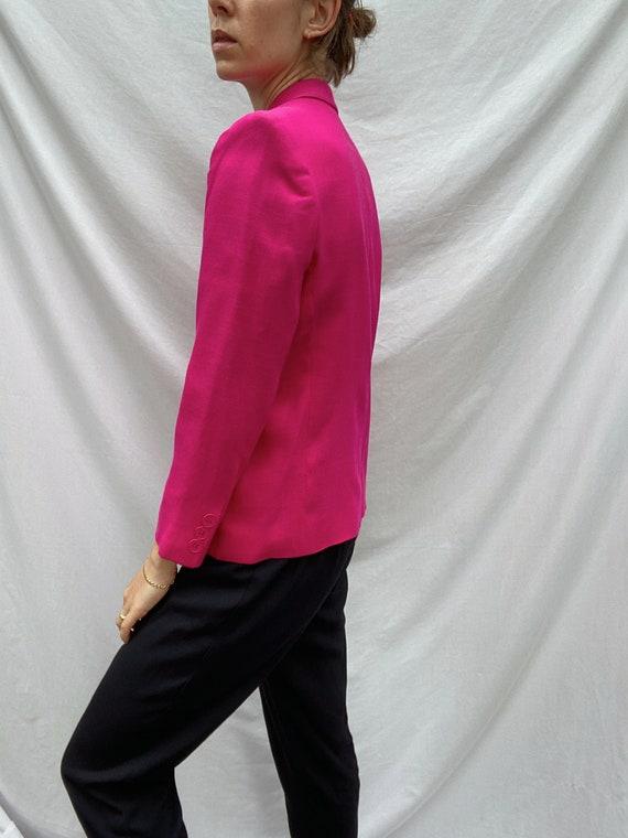 Vintage hot pink blazer - image 3