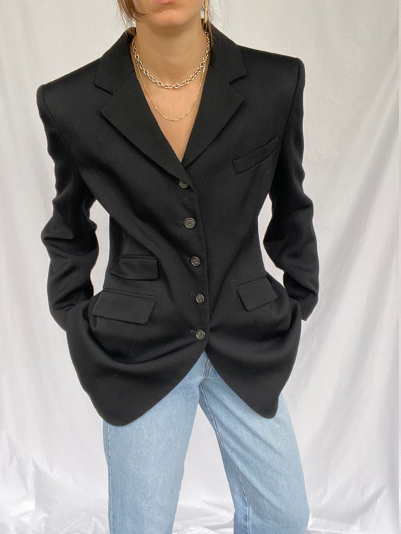 Vintage asymmetrical Ralph Lauren blazer
