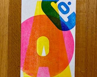 A-O-C Graphic Letterpress Print